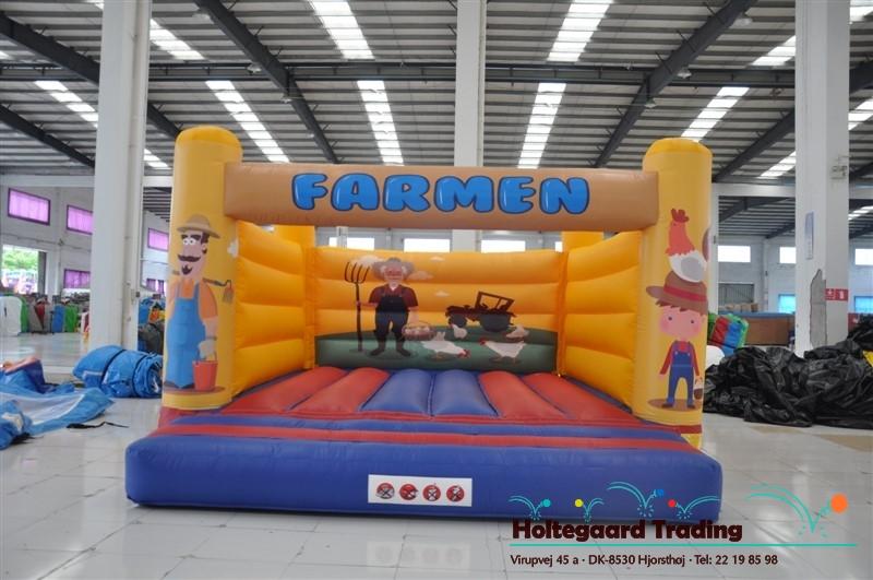 Lavprisafdelingen hoppeborg med Farm tema i 4×5 og 5×6