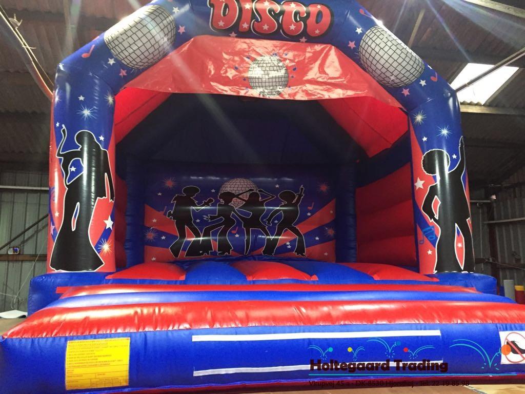Lavprisafdelingen hoppeborg med Disco tema